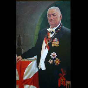 Rear Admiral Carey oil portrait as Grand Master of the Order: Presented 2010 in Toronto, Canada